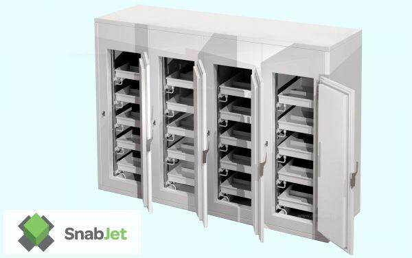 Встраиваемые секционные холодильные шкафы POLYBOX